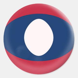 6 stora klistermärkeLaos flagga Runt Klistermärke