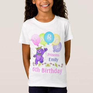 6efödelsedagPrincess, anpassningsbarnamn Tee Shirt