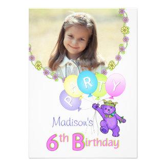 6efödelsedagsfestPrincess Uthärda Anpassningsbar F Inbjudningskort
