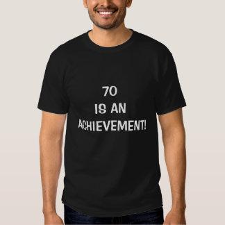 70 är en prestation t shirts