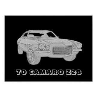 70 Camaro Z28 Affischer