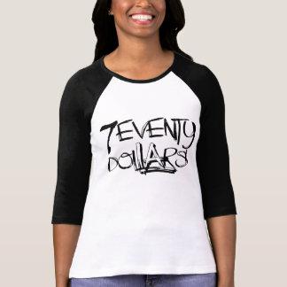 70 dollar kvinnor utslagsplats för Raglan 3/4 T-shirt
