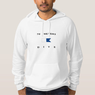 70 mäter alfabetiskdykflagga hoodie