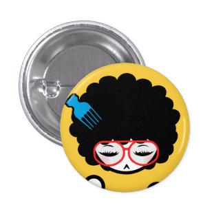 70-tal afro- Nina Mini Knapp Rund 3.2 Cm