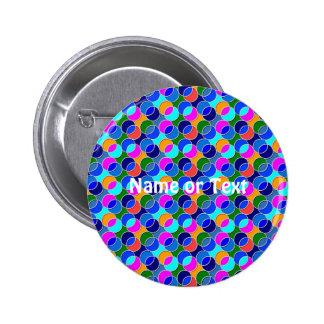 70-tal cirklar färgrika blått