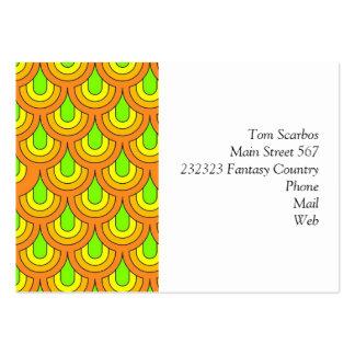 70-tal görar grön det orange retro mönster visitkort mallar