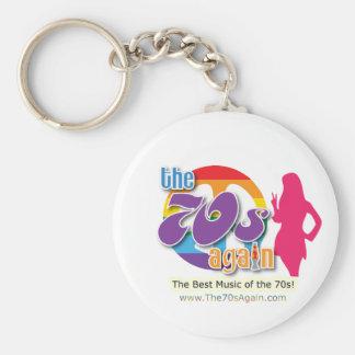 70-tal igen - Keychain Rund Nyckelring