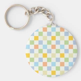 70-tal kvadrerar mönster rund nyckelring