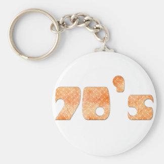 70-tal rund nyckelring
