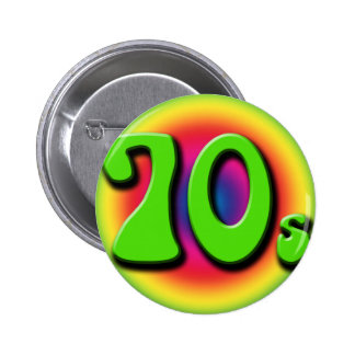 70-tal standard knapp rund 5.7 cm