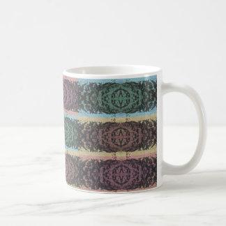 70-tal texturerade färgkvarter kaffemugg