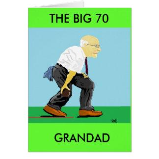 70TH FÖDELSEDAG för GRANDAD Hälsningskort