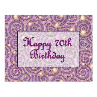 70th födelsedag för lycklig vykort
