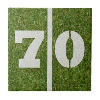 70th Födelsedagfotbollanpassadet belägger med tege Kakelplatta Av Kerami