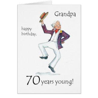 70th Födelsedagkort för en farfar Hälsningskort