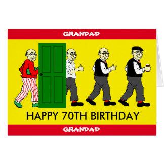 70TH födelsedagkort för GRANDAD Hälsningskort