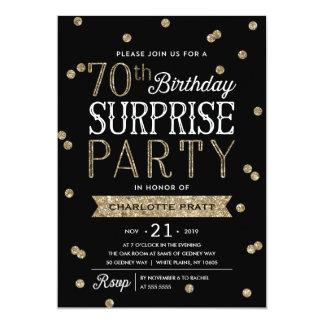 70th Inbjudan för party för