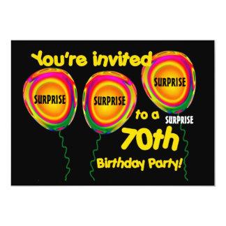 70th ÖVERRRAKNINGfödelsedagsfest inbjudanmall 12,7 X 17,8 Cm Inbjudningskort