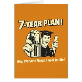 7 år planerar: Alla behöver ett mål Kort