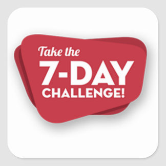 7 day-challenge-logo-1 fyrkantigt klistermärke
