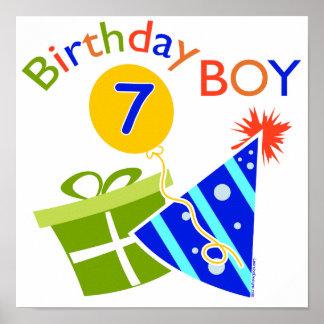 7:efödelsedag - födelsedagpojke posters