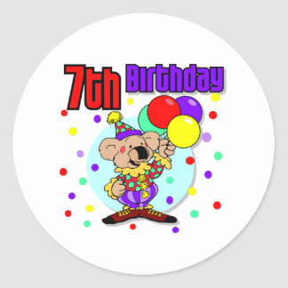 7:efödelsedagAustralien födelsedag Rund Klistermärke