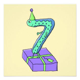 7:efödelsedagCartoon. Personliga Inbjudan