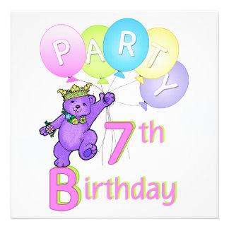 7:efödelsedagsfestPrincess Uthärda Svälla Inbjudan