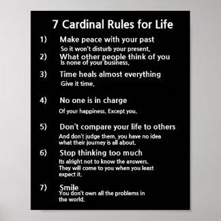 7 huvudsakliga regler för LIV Poster