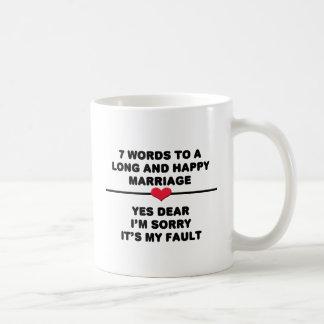 7 ord för ett långt och lyckligt giftermål kaffemugg