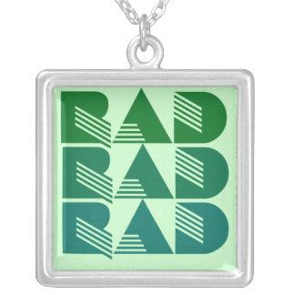 80-tal RAD Halsband Med Fyrkantigt Hängsmycke