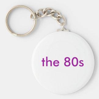 80-tal rund nyckelring