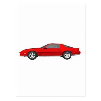 80-talCamaro sportbil: 3D modellerar: Vykort