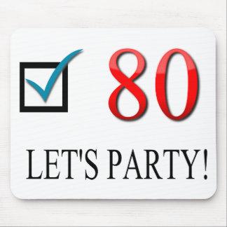80th födelsedag för lycklig musmatta