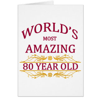 80th. Födelsedag Hälsningskort
