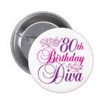 80th FödelsedagDiva Knappar