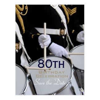 80th födelsedagspara för kungligt brittiskt vykort