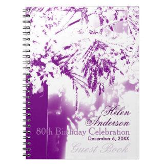 80th GuestBook för bukett för Anteckningsbok Med Spiral