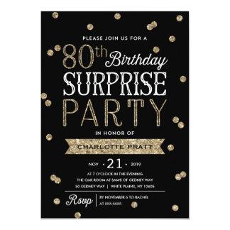 80th Inbjudan för party för