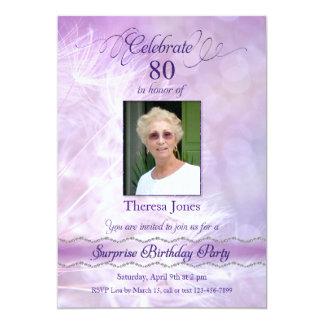 80th Överrrakningfödelsedagsfest inbjudan