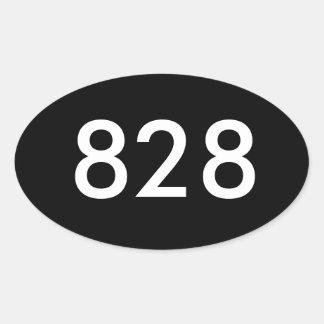 828 klistermärkear ovalt klistermärke