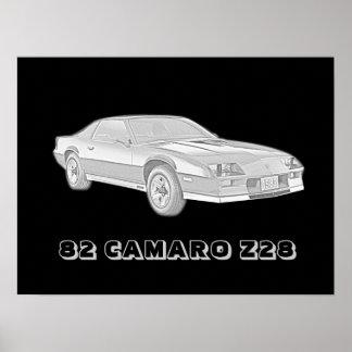 82 Camaro Z28 Poster