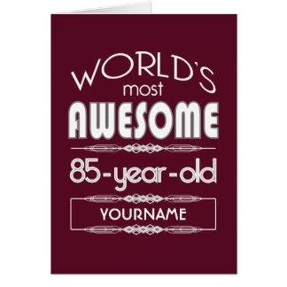 85. Röd bäst sagolik mörk för födelsedagvärldar - Hälsningskort