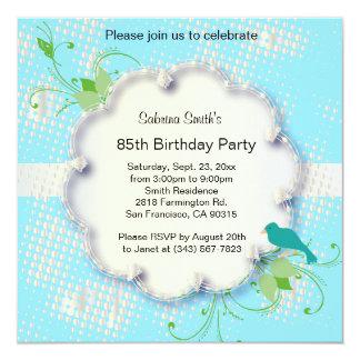 85. Text för födelsedagsfest | DIY Fyrkantigt 13,3 Cm Inbjudningskort