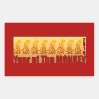 8 apor för den kinesiska klistermärken 2016 för