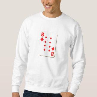 8 av diamanter som leker kortet sweatshirt