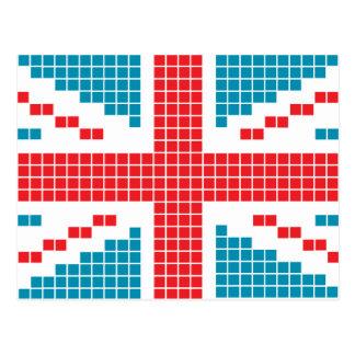 8 bet flagga för facklig jack för PIXEL brittisk Vykort