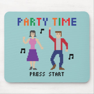 8bits party Time Mousepad Mus Mattor