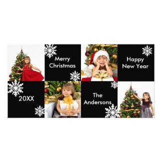 8H kvadrerar svart vitsnö - julfotokort Fotokort