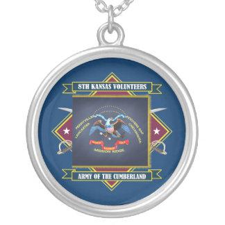8th Kansas volontärinfanteri Silverpläterat Halsband